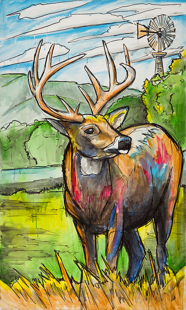 Texas Buck, Ed Anderson Art