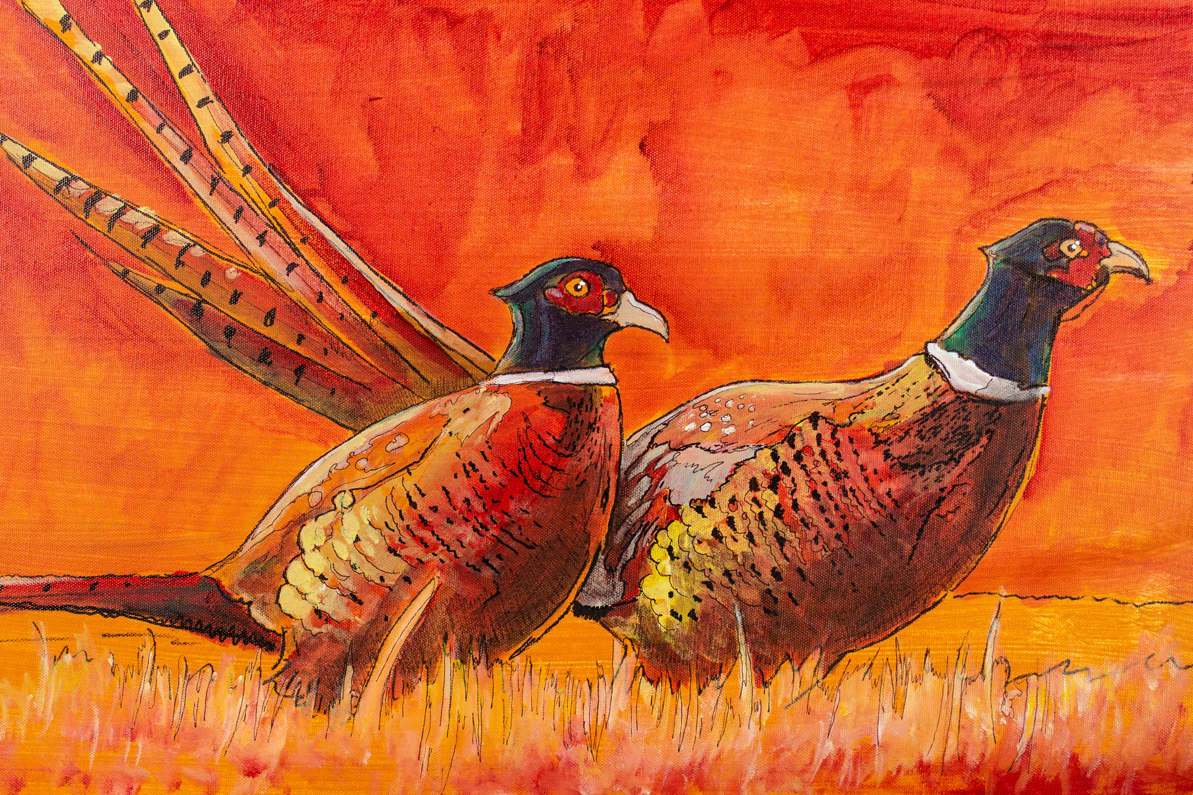 pheasants forever painting